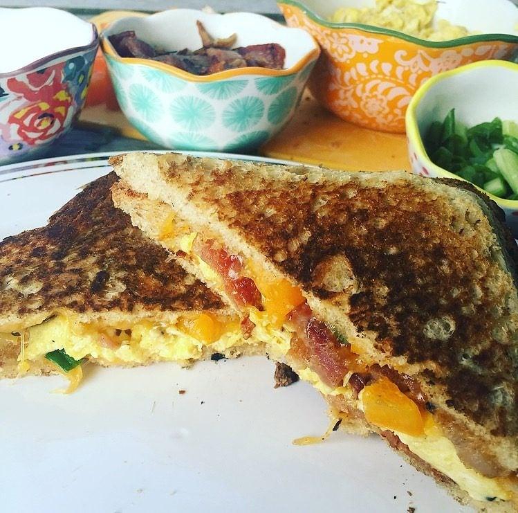 Campfire Breakfast Sandwich