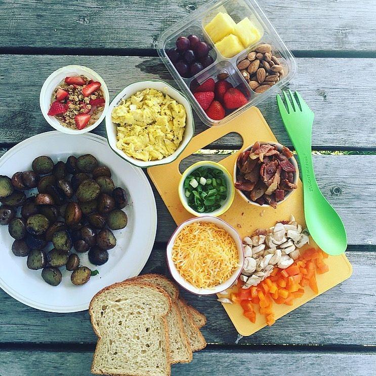 Campfire Breakfast Sandwich Ingredients