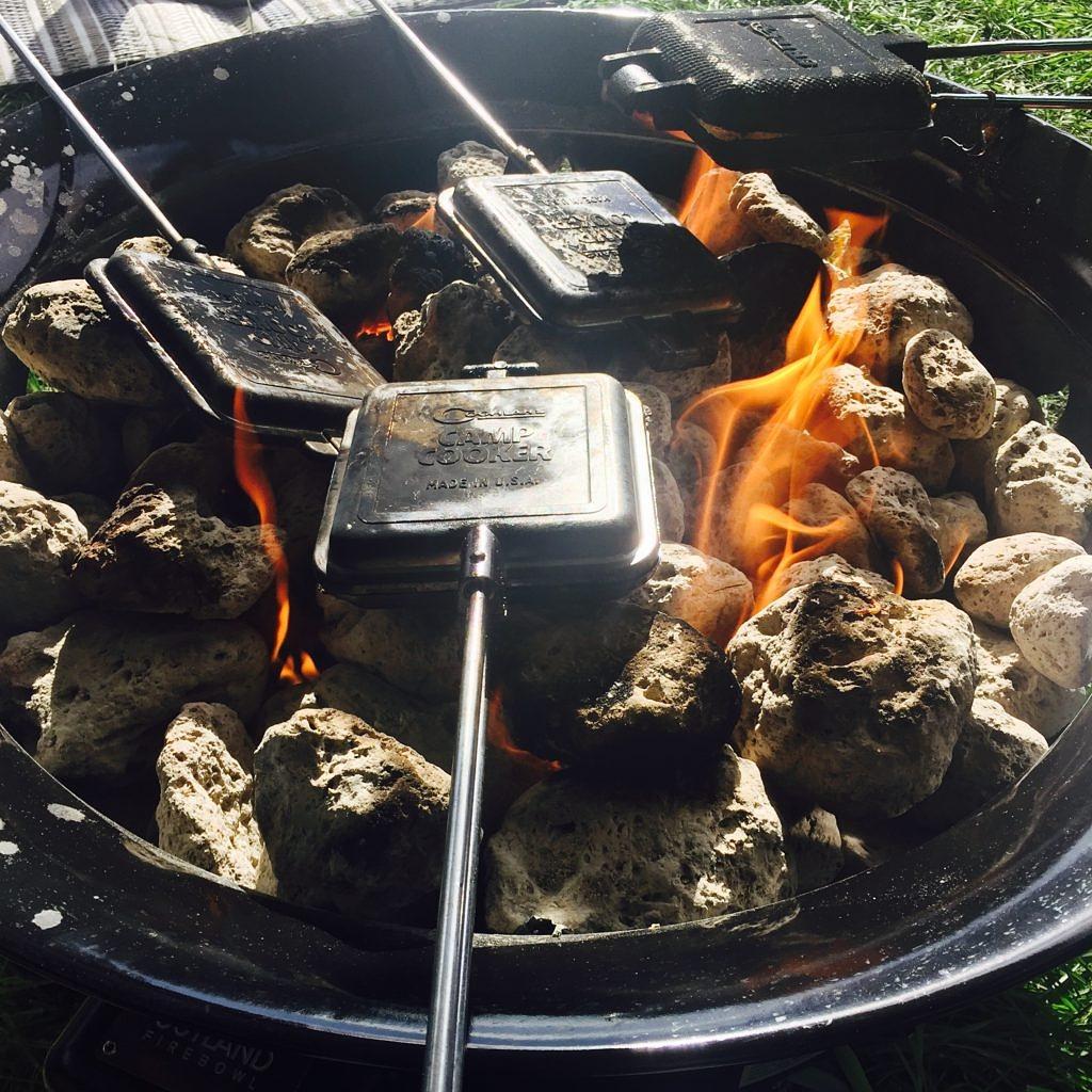 Campfire Breakfast Sandwich Pie Irons