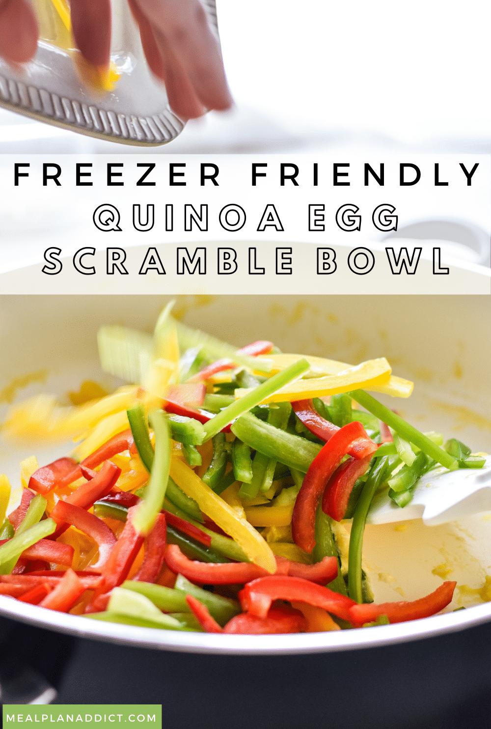 Meal Prep Quinoa Egg Scramble Bowl Freezer Friendly   Meal Plan Addict
