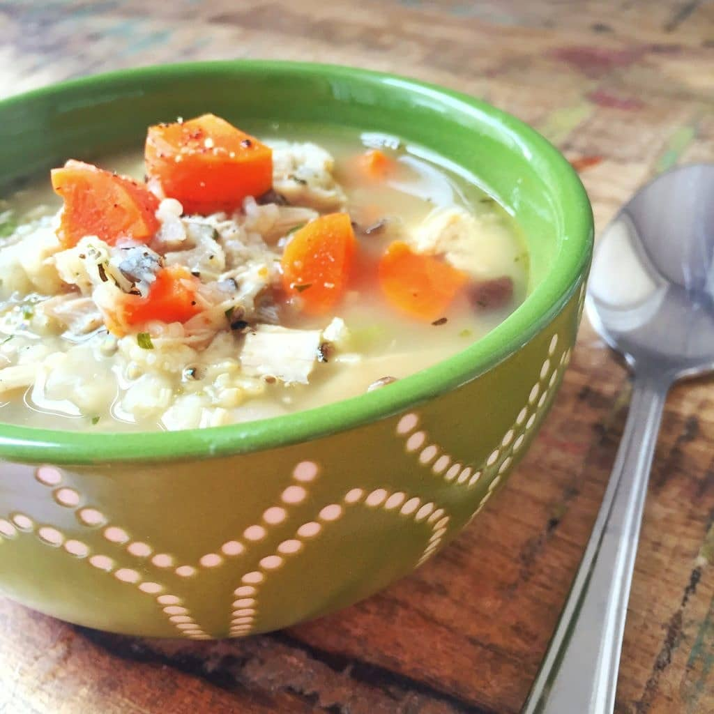 Easy Chicken & Sprouted Rice Stew