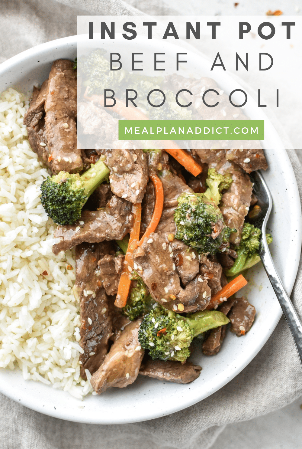 Beef and broccoli pin for Pinterest