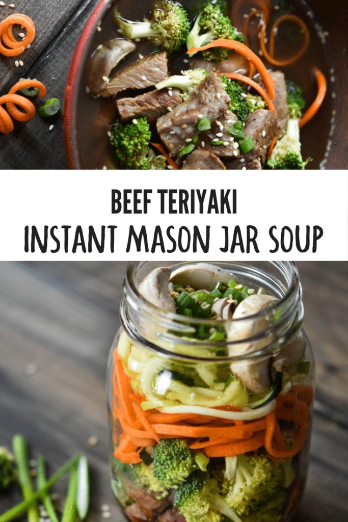 Beef Teriyaki Instant Mason Jar Soup