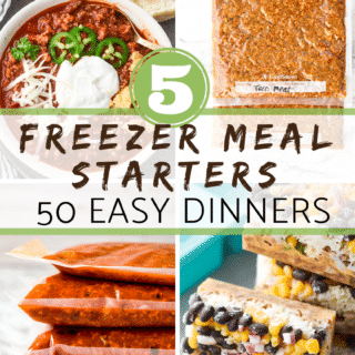 5 freezer meal starters
