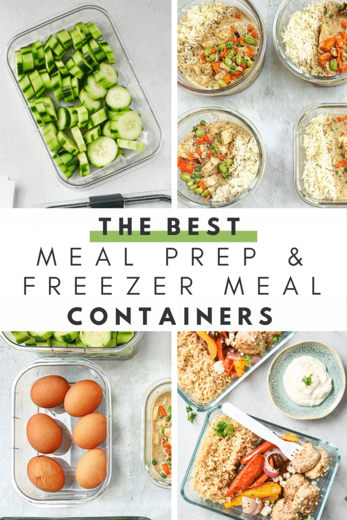 meal prep and freezer meal containers