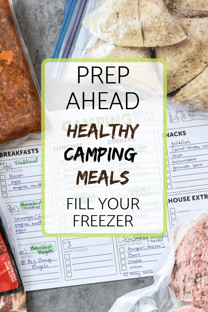 Prep Ahead Healthy Camping Meals Pin