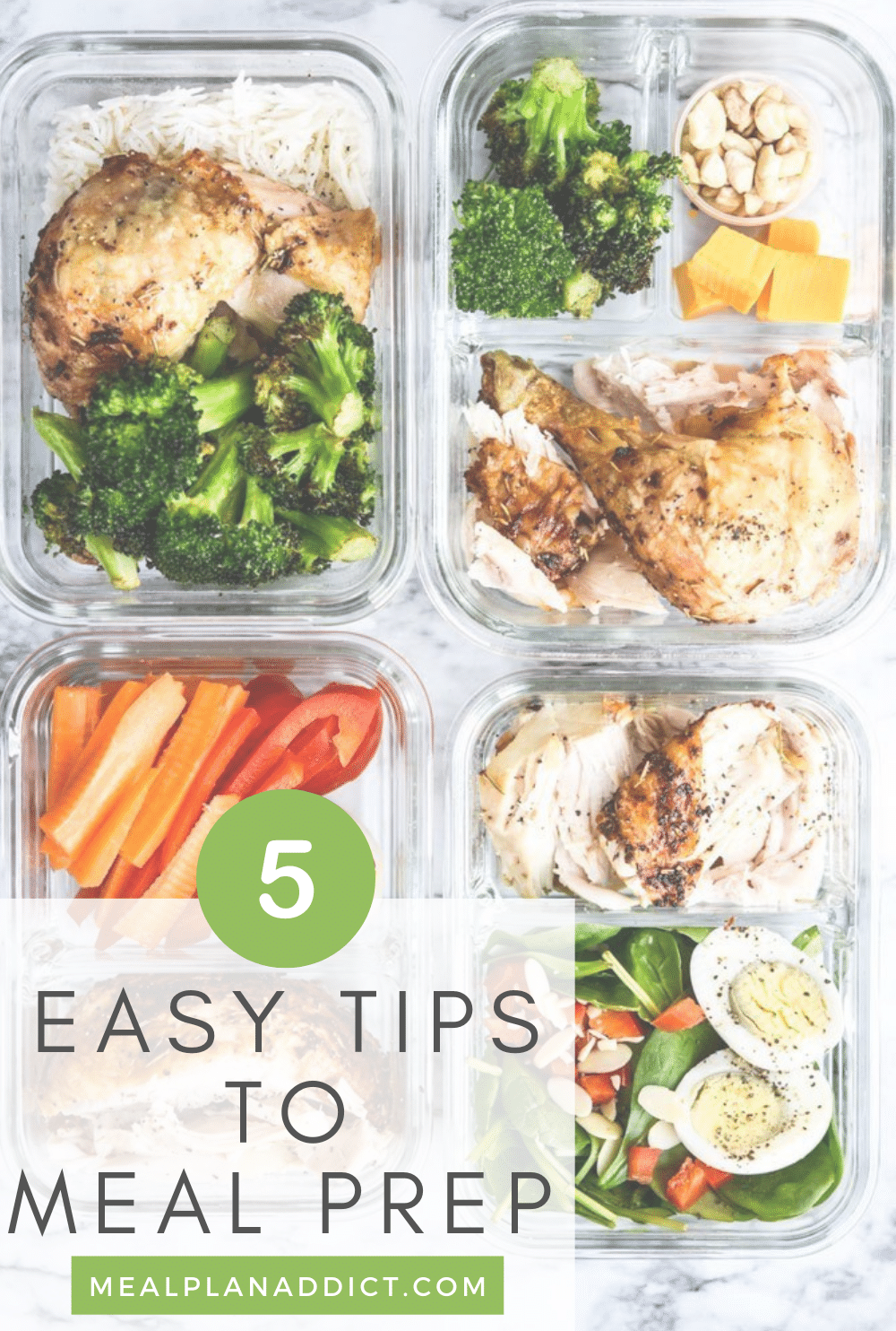 5 Easy Tips to Meal Prepping | Meal Plan Addict