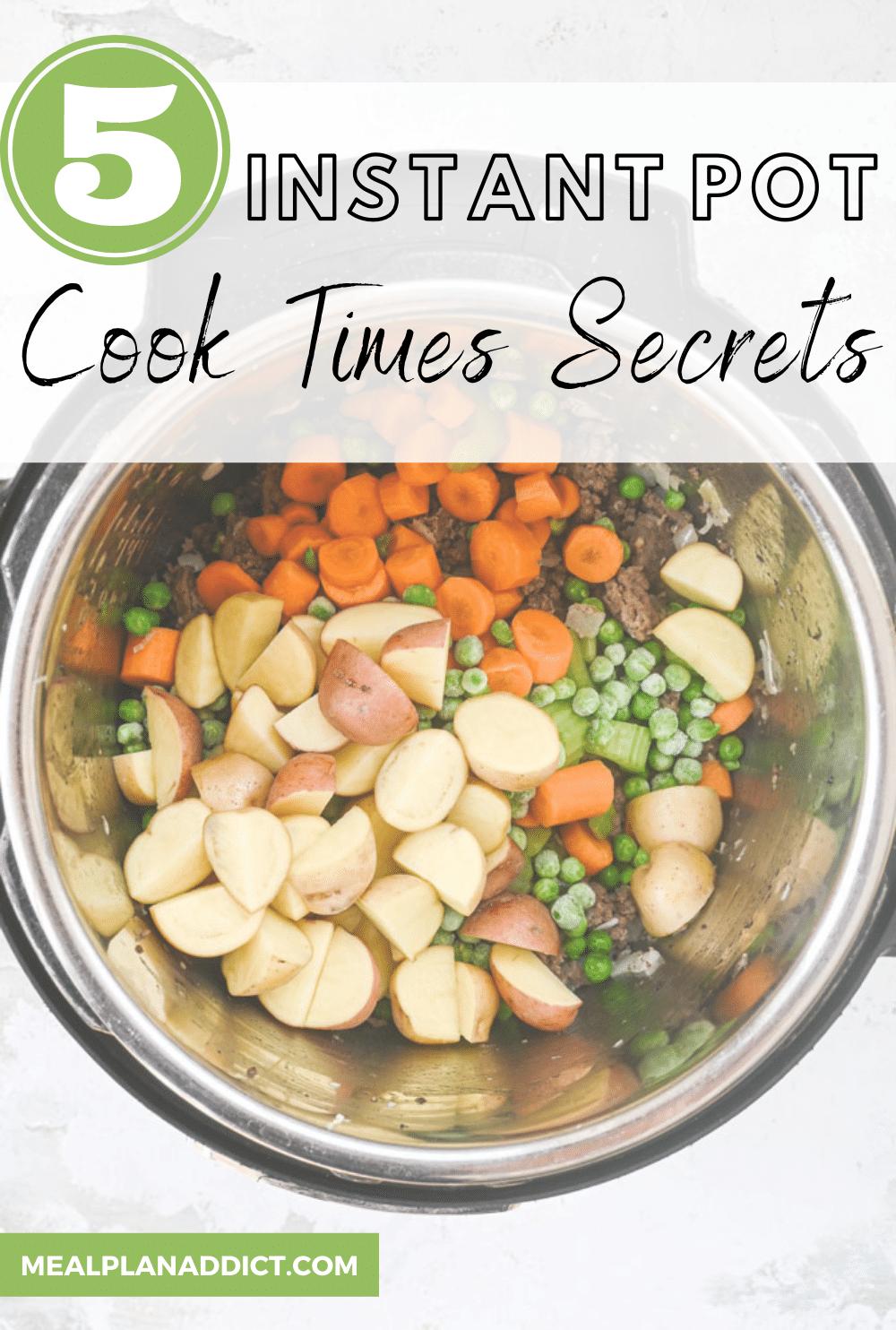 5 Instant Pot Cook Time Secrets