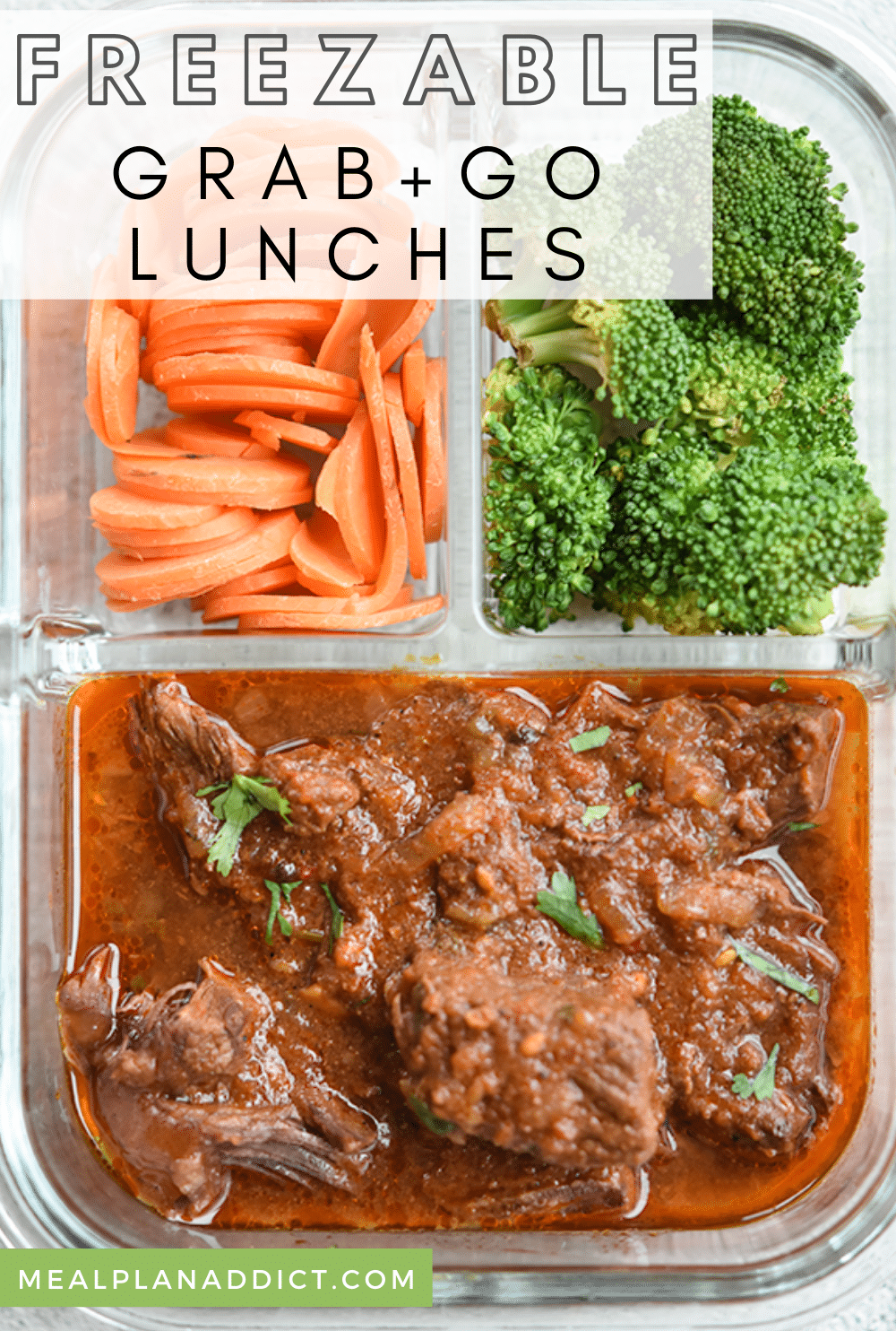 Simple Freezable Grab and Go Lunches by Meal Plan Addict