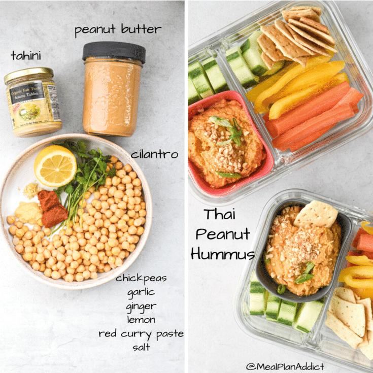 Thai Peanut Hummus ingredients