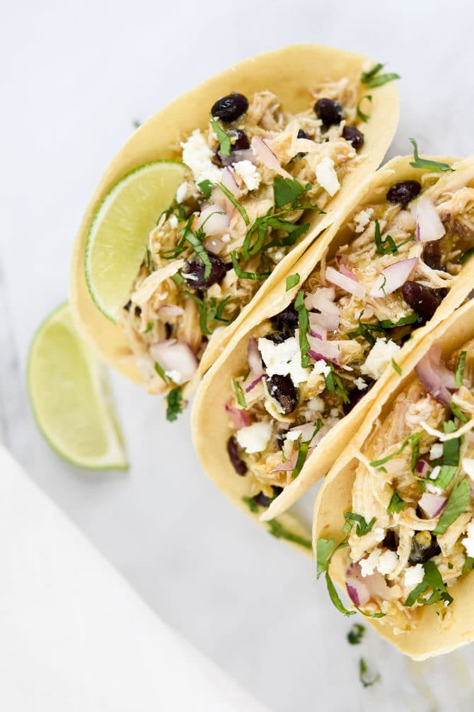 Salsa Verde Chicken Tacos 4