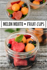 Melon Mojito Fruit Cups