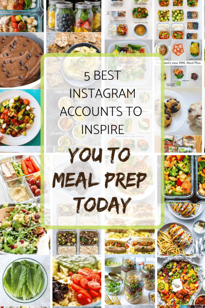 5 Best Instagram Account to Inspire you to Meal Prep today