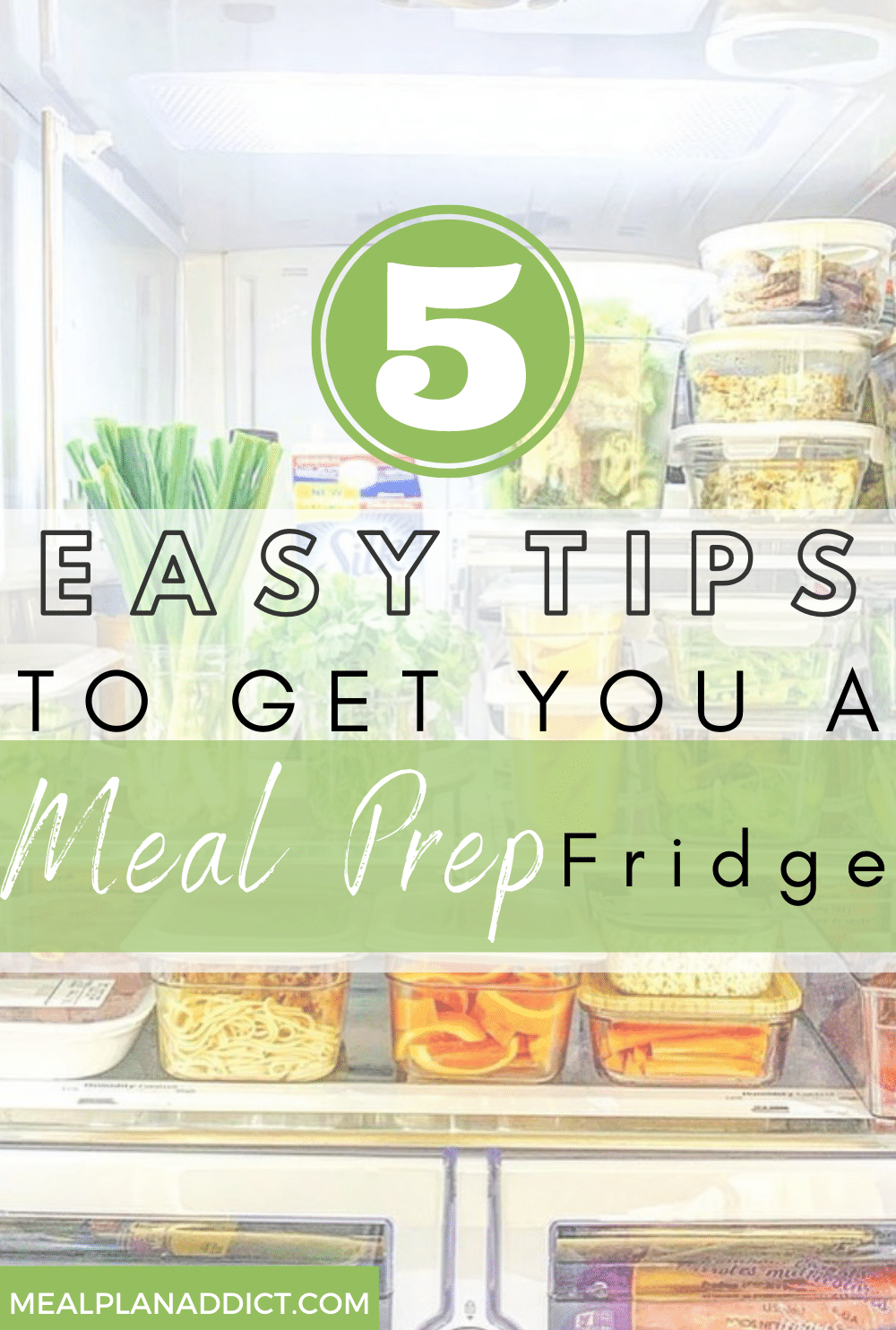 Tips to meal prep pin for Pinterest