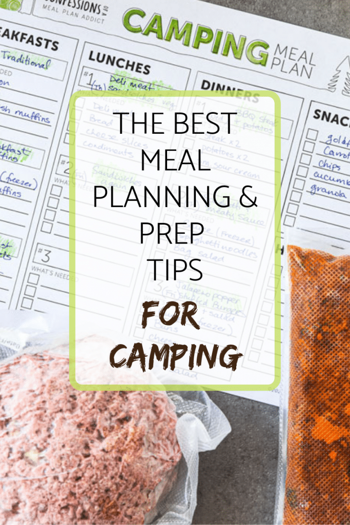 The best meal planning and prep tips for camping pin