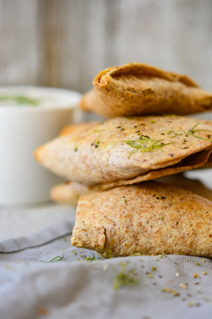 Air Fryer Crispy Greek Chicken Pockets