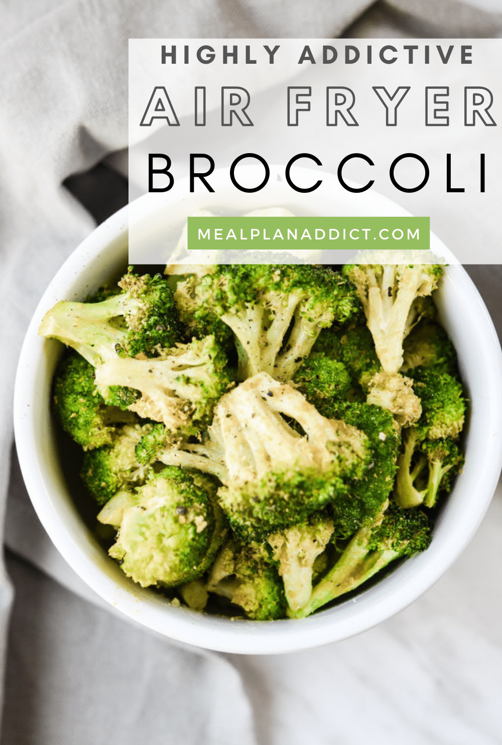 Easy Low Carb Air Fryer Broccoli   Meal Plan Addict