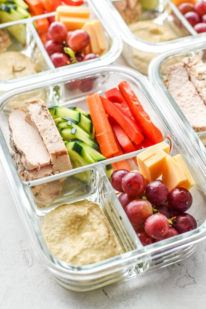 No Microwave-lunch-chicken-hummus-plate-meal-prep