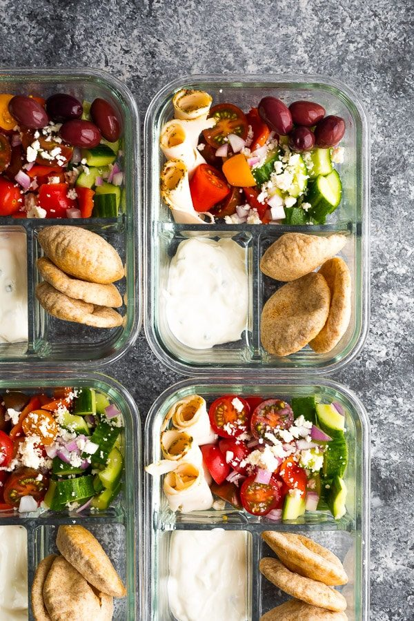 No microwave lunches Greek-Chicken-Bento-Box