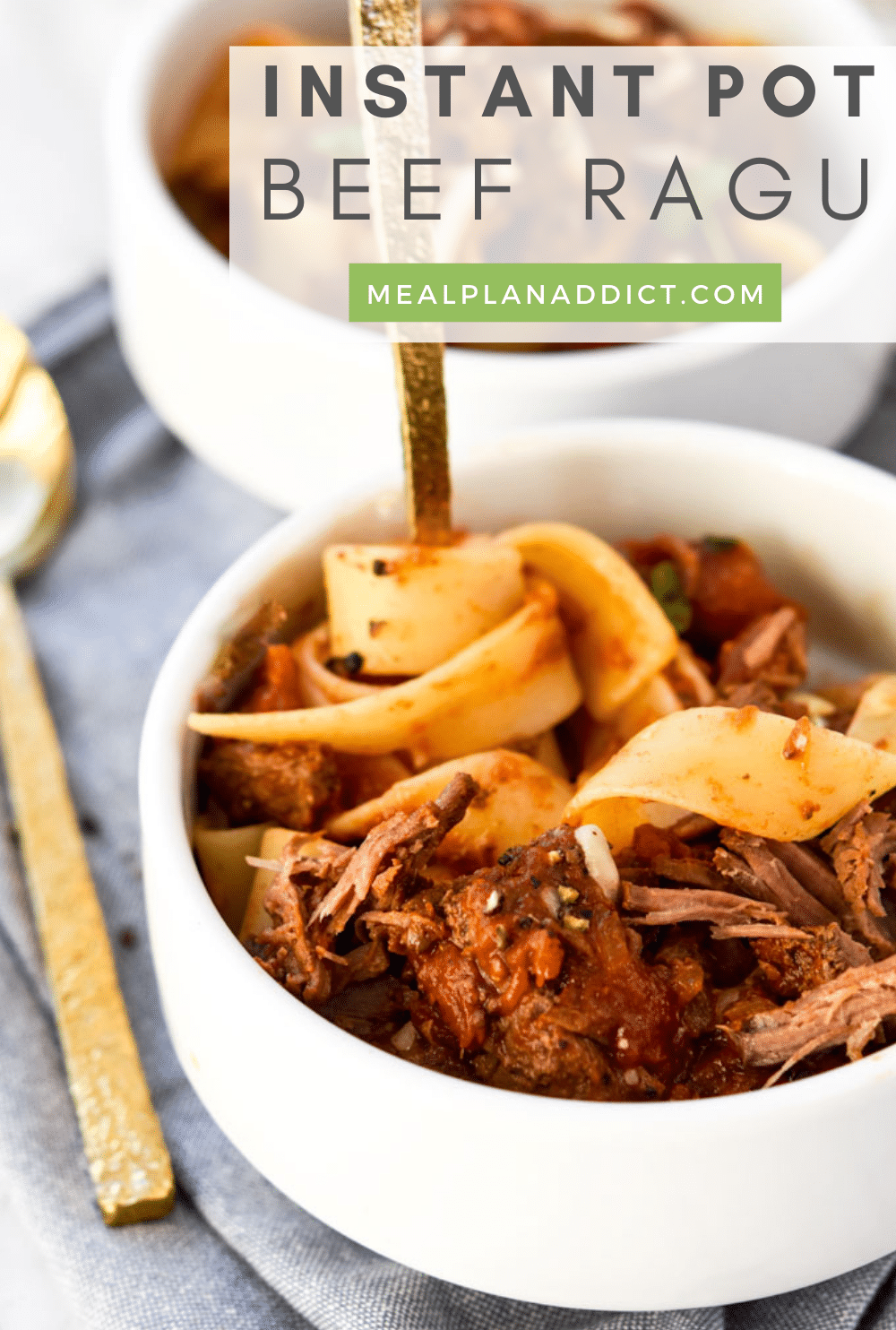 45 Minute Instant Pot Beef Ragu   Meal Plan Addict