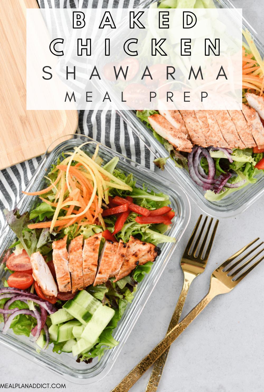 Chicken Shawarma pin for Pinterest