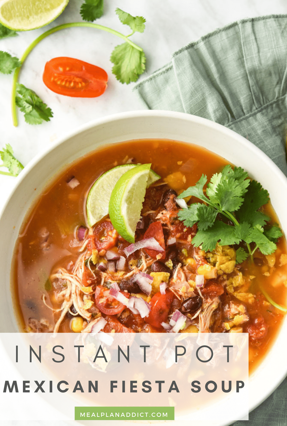 Mexican soup pin for Pinterest