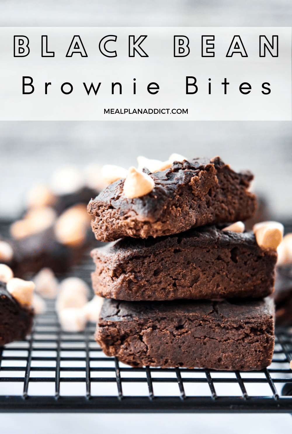 Brownie bites pin for Pinterest