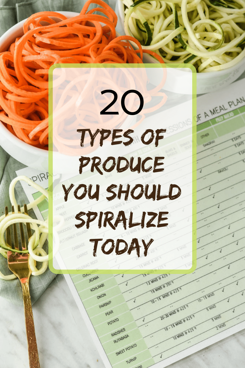 20 types of produce you should spiralize