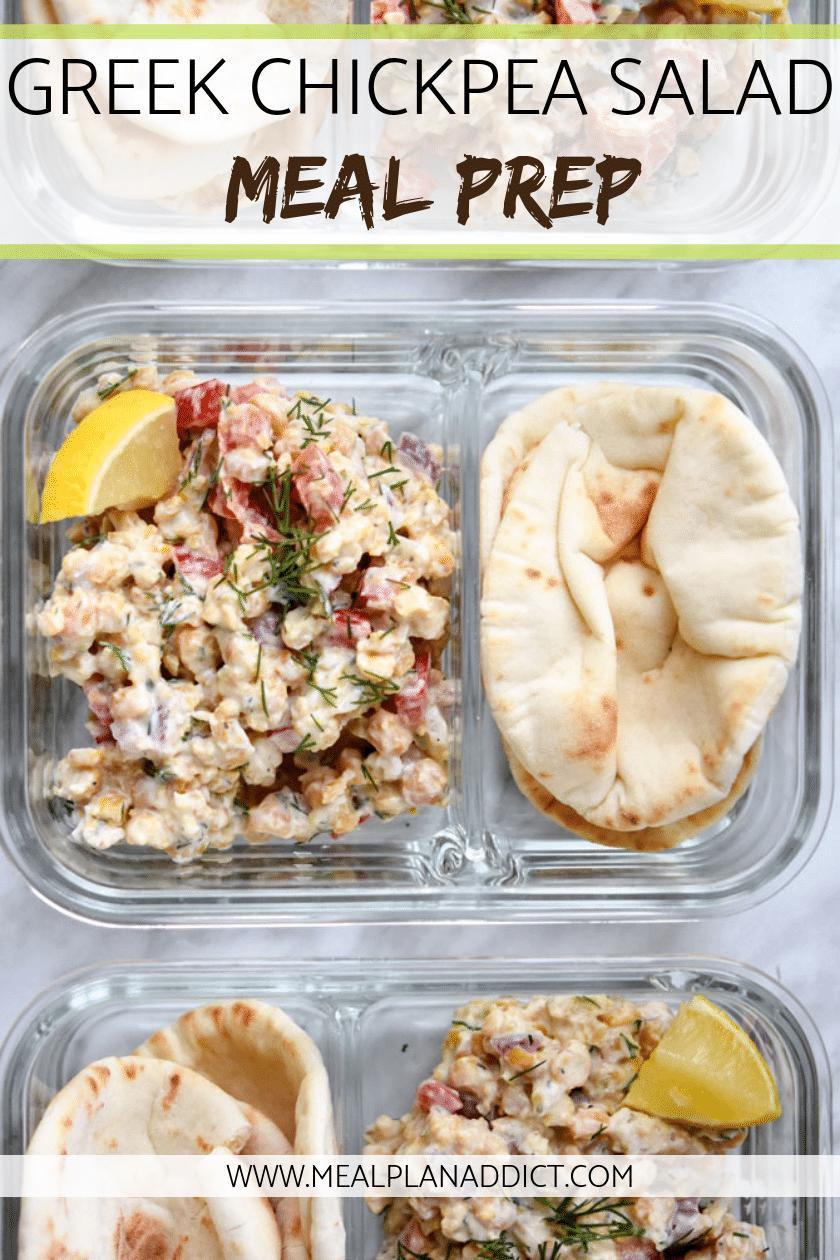 Greek Chickpea Salad Meal Prep