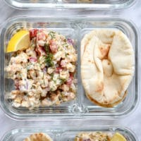 Greek Chickpea Salad Pita Meal Prep_2