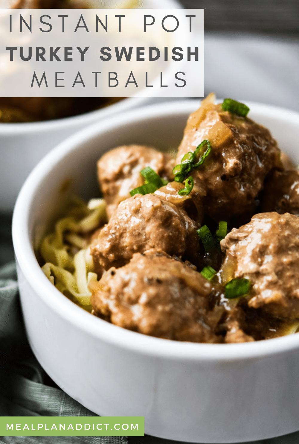 Swedish meatballs pin for Pinterest