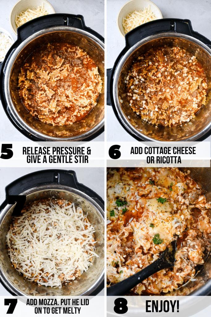 how to make instant pot lazy lasagna (1)