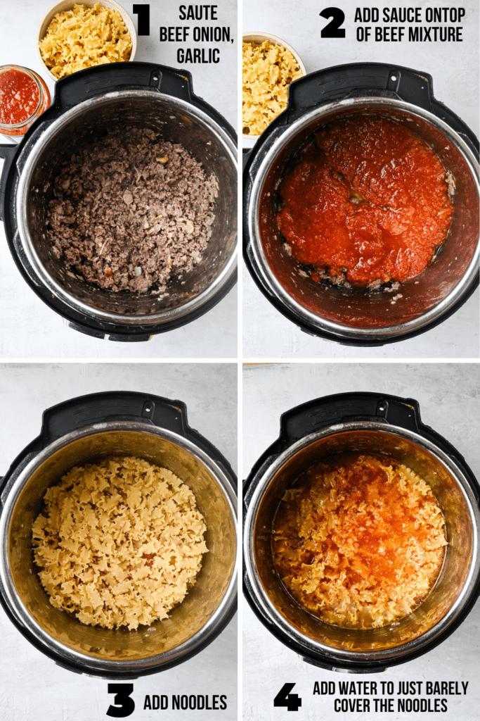 how to make instant pot lazy lasagna