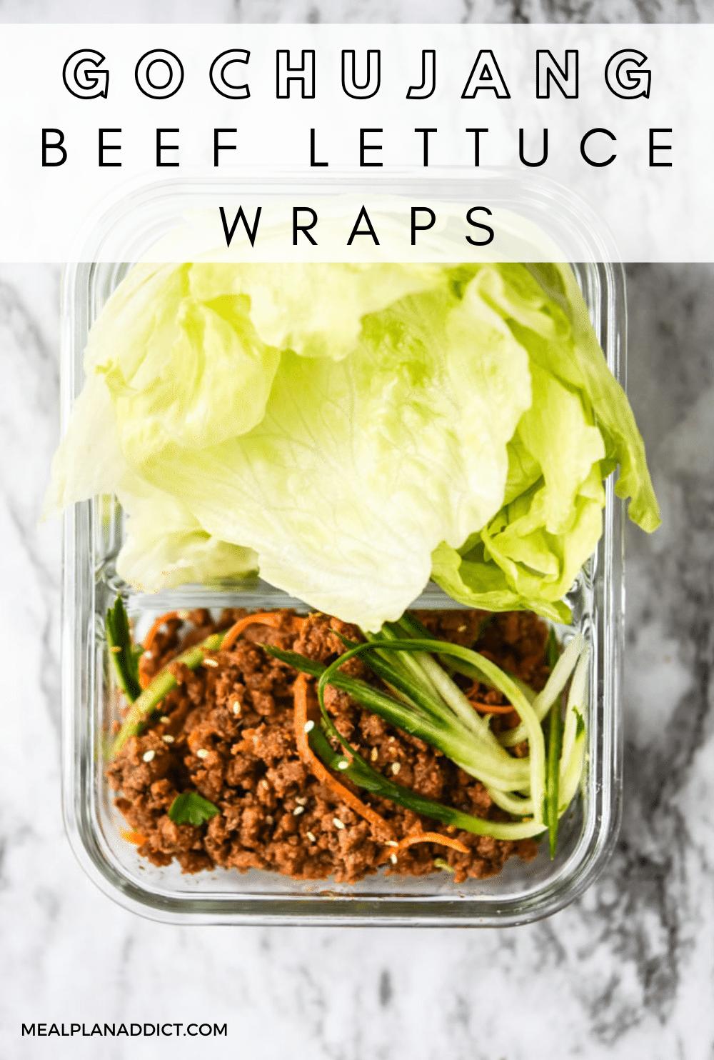 Gochujang Beef Lettuce Wraps   Meal Plan Addict