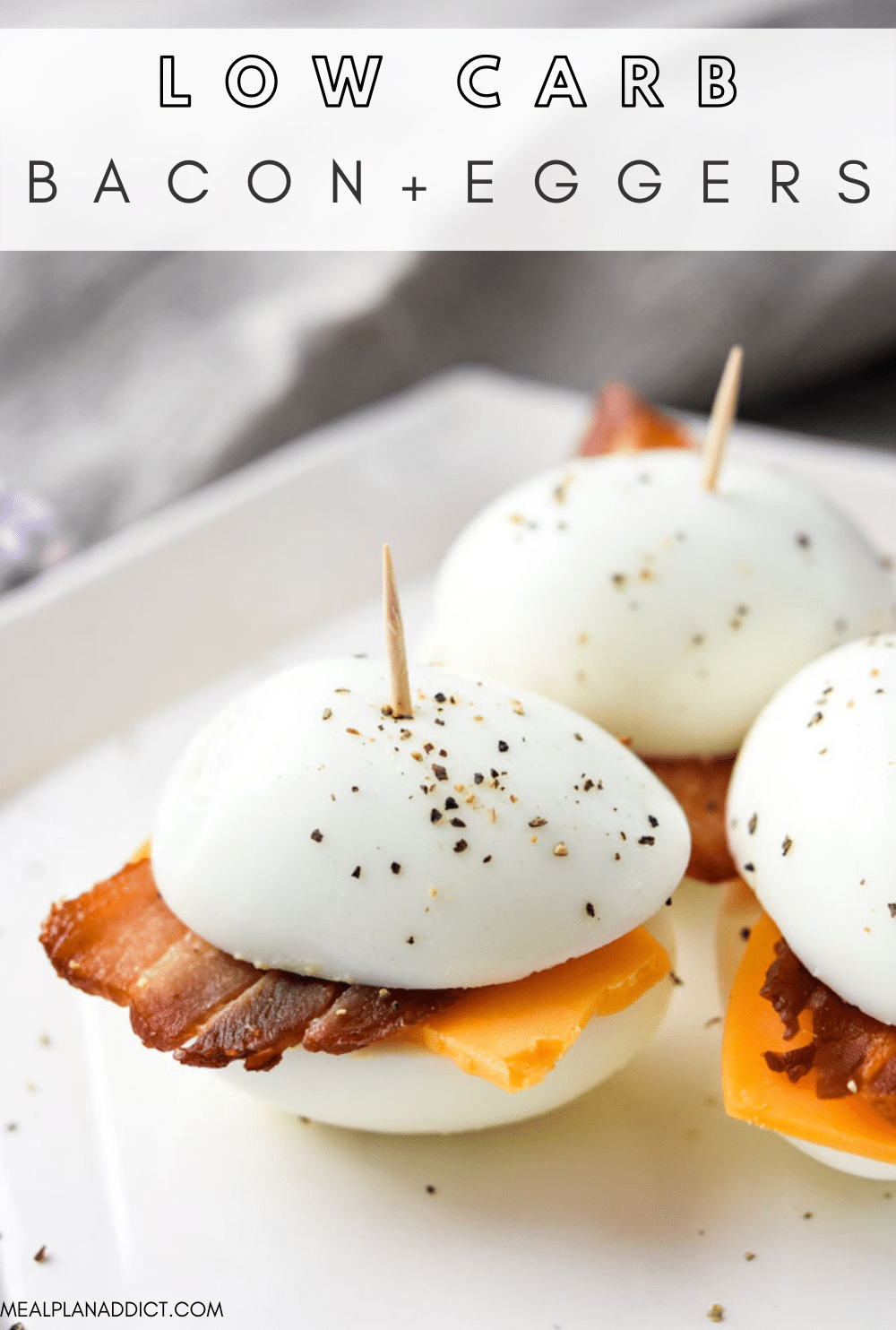 Bacon and egger pin for Pinterest