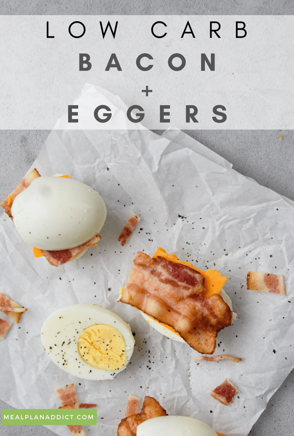 Bacon and eggers pin for Pinterest