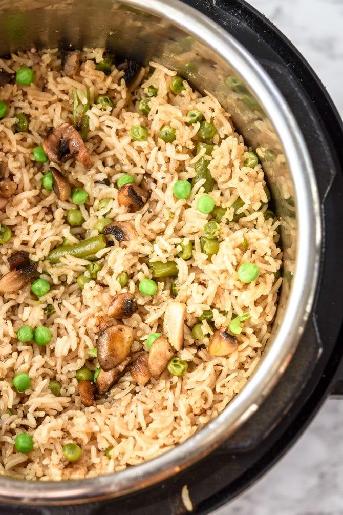 Savory Instant Pot Rice & Veggies-2