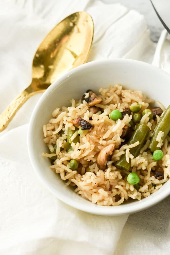 Savory Instant Pot Rice & Veggies-4