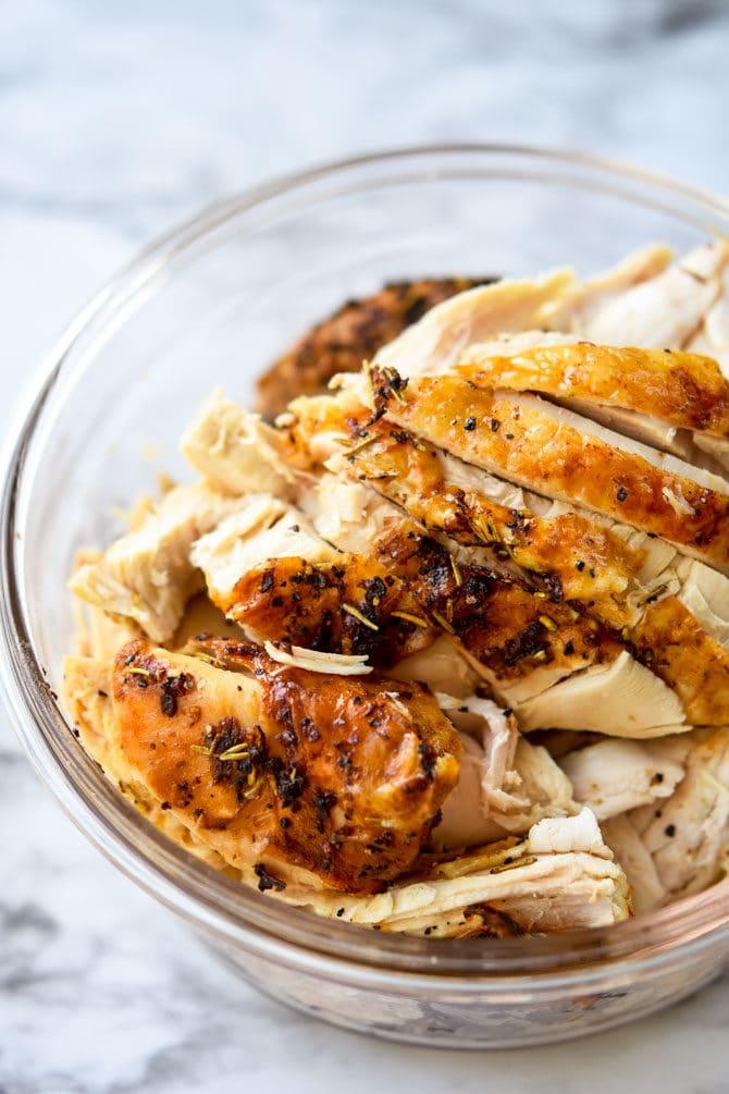 Air Fryer Garlic Rosemary Rotisserie Chicken-5