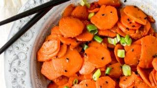 Air Fryer Sesame Ginger Carrots