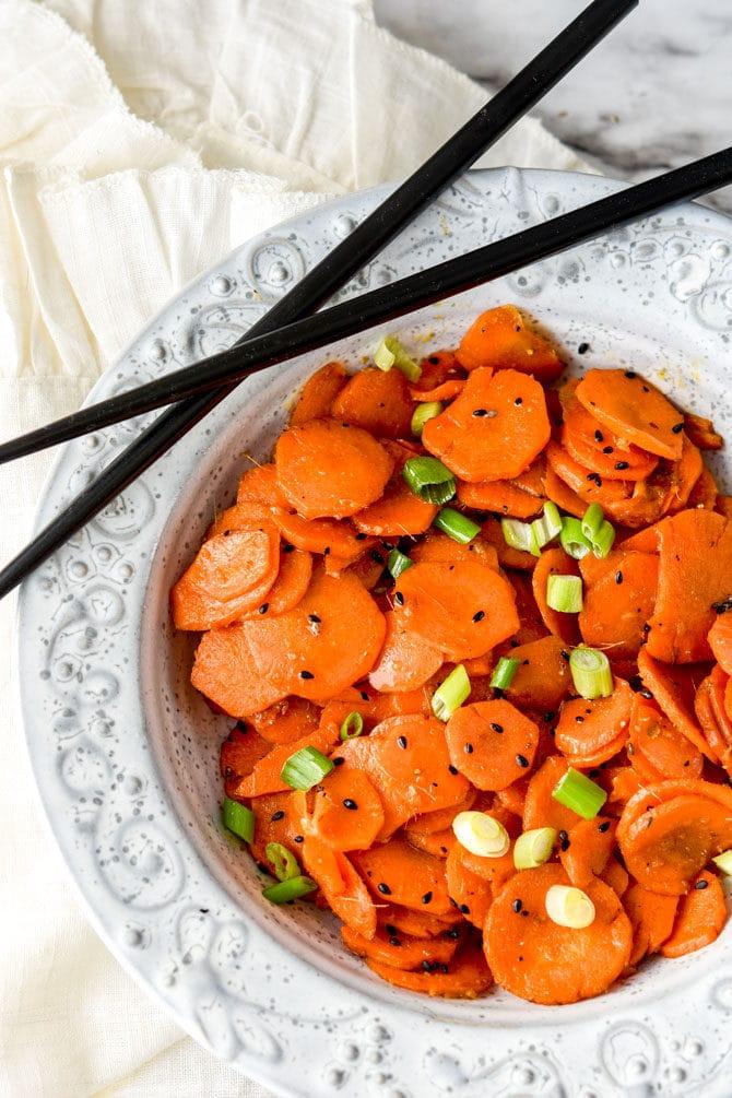 Air Fryer Sesame Ginger Carrots-3