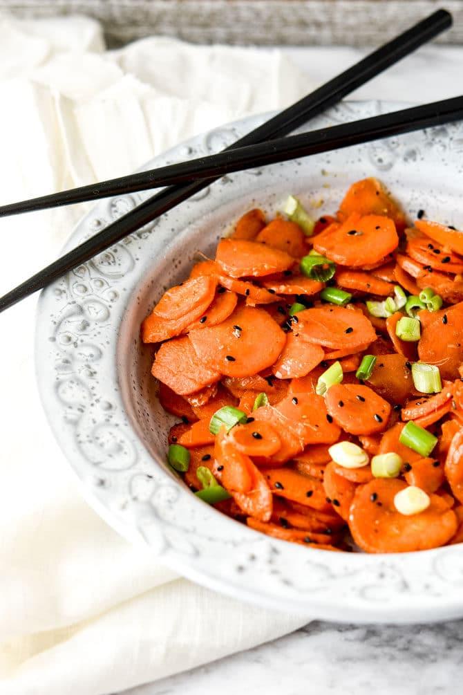 Air Fryer Sesame Ginger Carrots-4