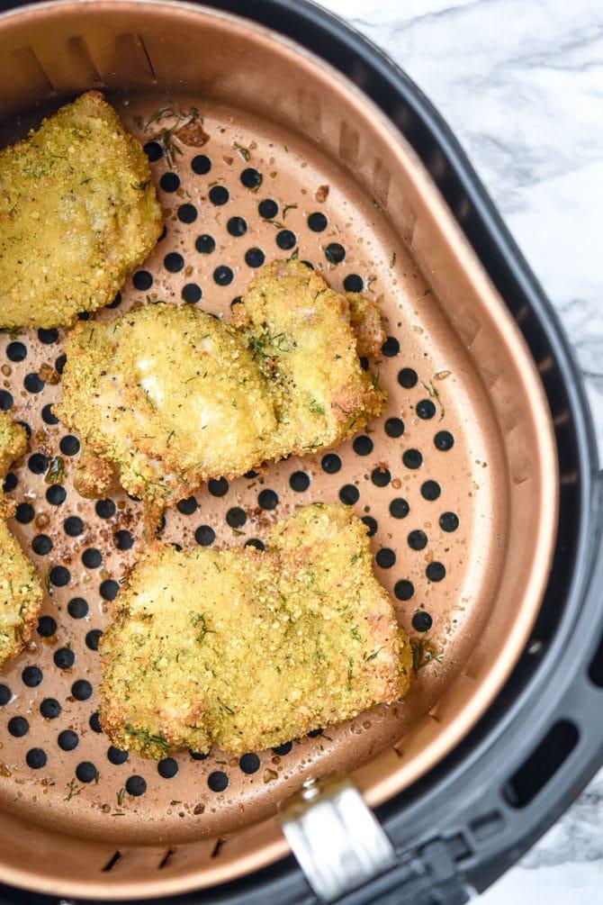 Crispy Air Fryer Dill Pickle Chicken-3