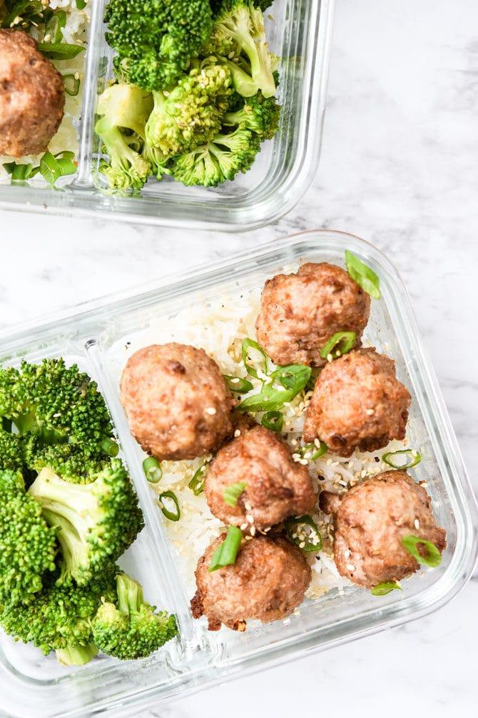 Easy Asian Pork Meatballs-5