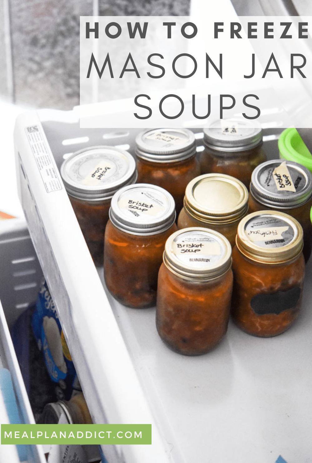 Mason jar soup pin for Pinterest