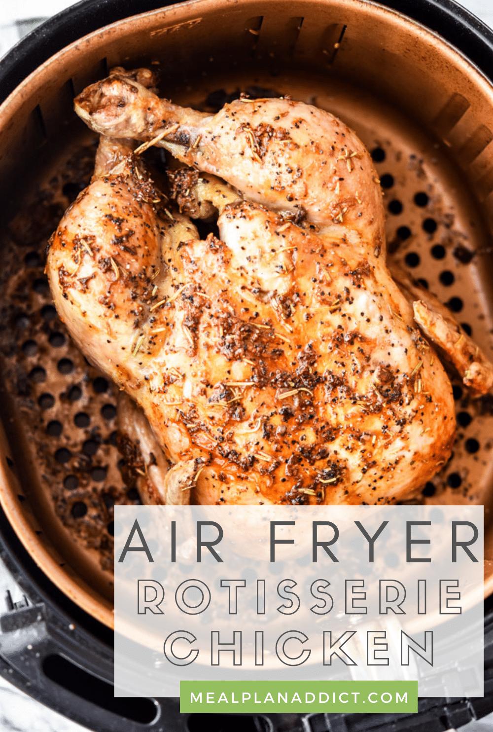 Rotisserie chicken pin for Pinterest