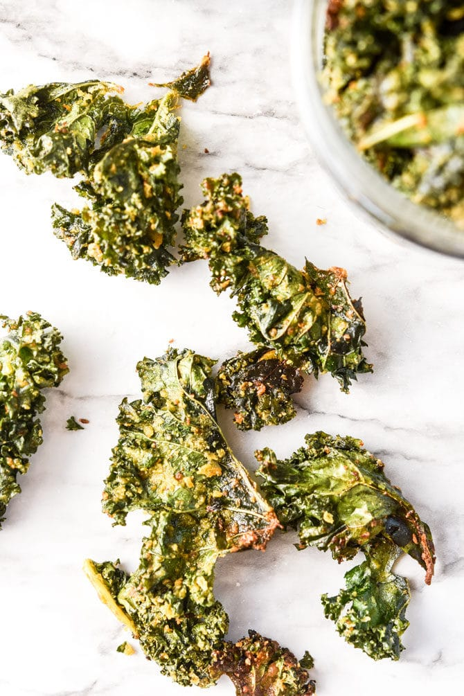 kale chips on the counter