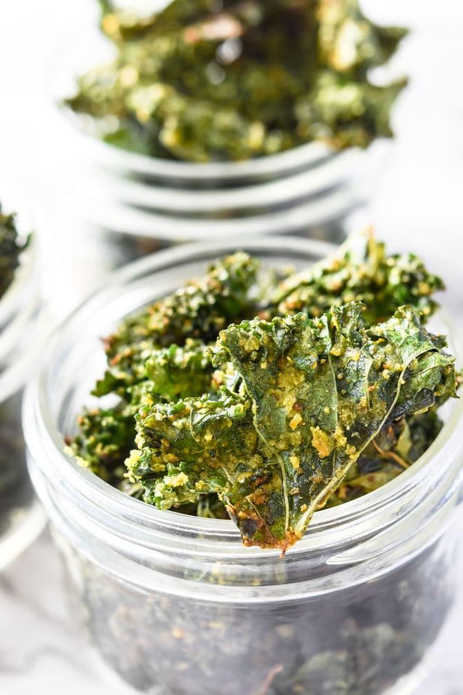 Kale Chips in jar
