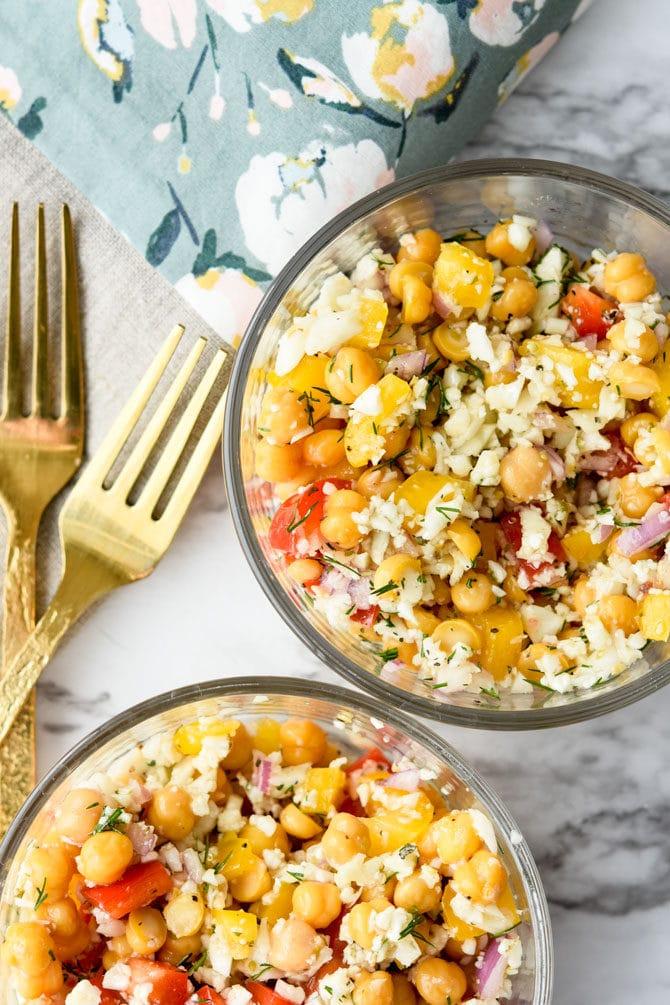 Mediterranean Cauliflower Chickpea Salad-4