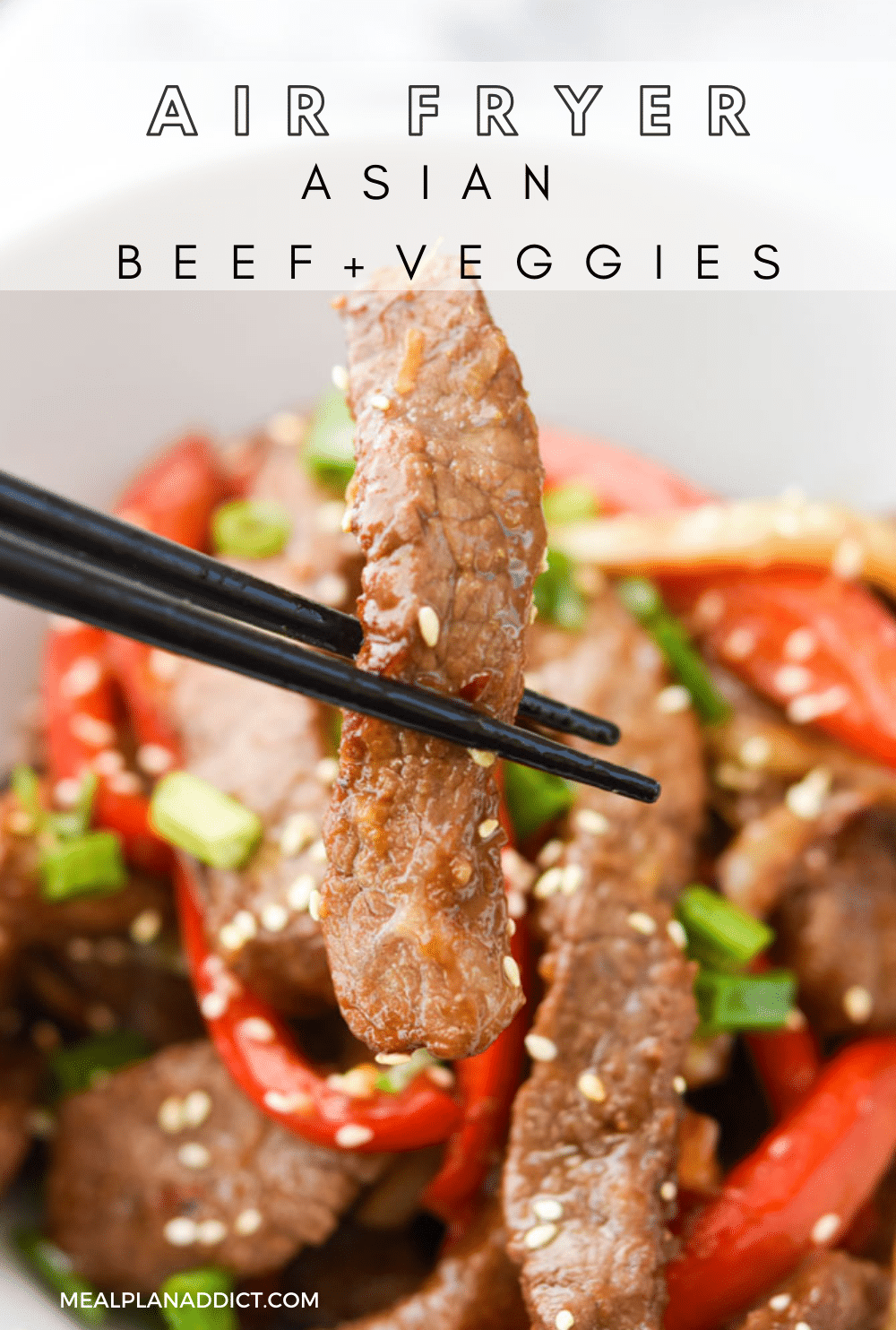 Asian beef pin for Pinterest